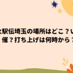 花火駅伝埼玉の場所はどこ?いつ開催?打ち上げは何時から?