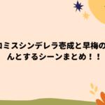 プロミスシンデレラ壱成と早梅のきゅんとするシーンまとめ!!